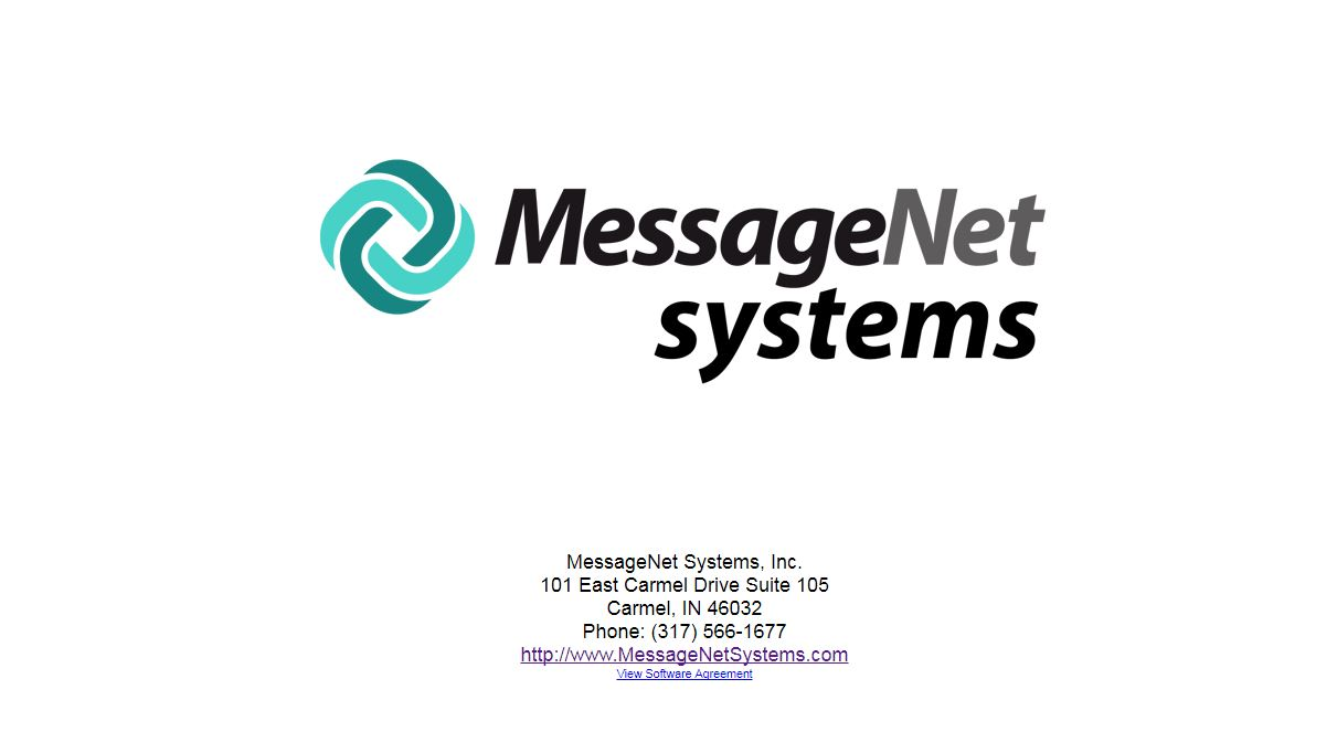 MessageNet splash screen