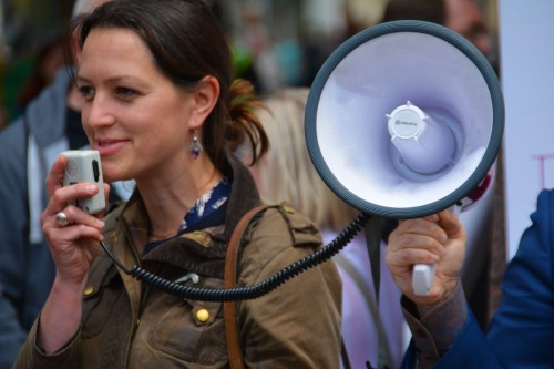 megaphone used for public address